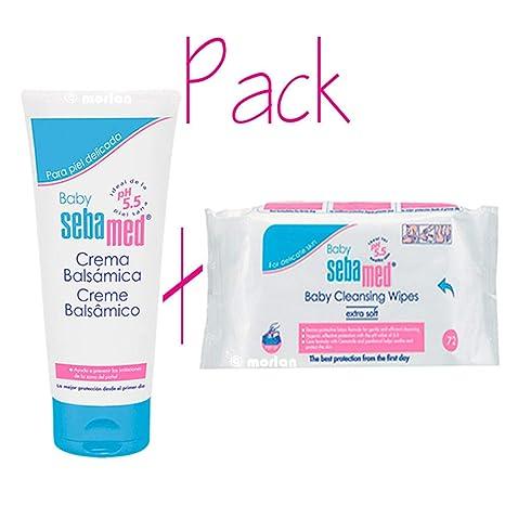 Sebamed PACK Baby Crema Balsámica, 200ml+Toallitas Limpiadoras, 72Uds