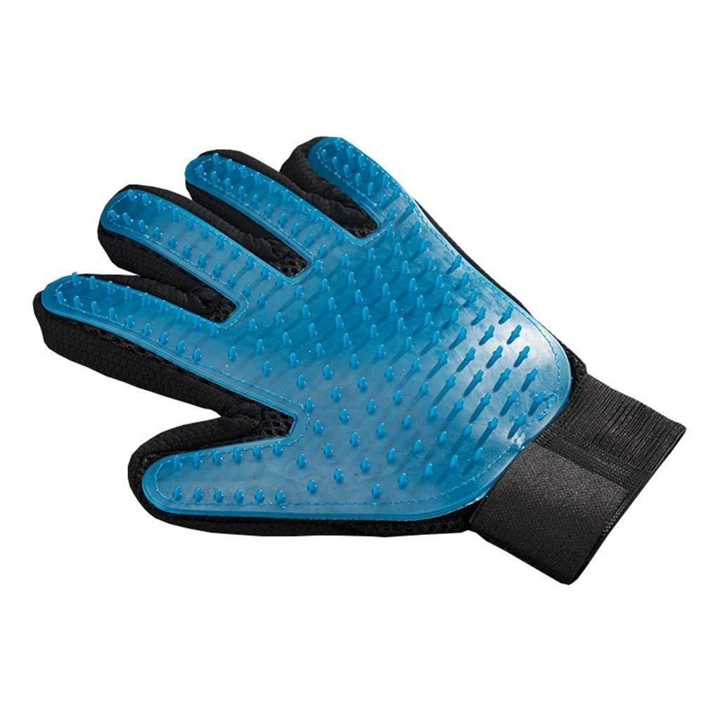 Dog Grooming Glove,pet Hair Cleaning Brush, Rooming Hair Remover Massage Tool Bathing Brush Five Finger Perfect for Dog Cat with Long Or Short for Cleaning (Size : Left)