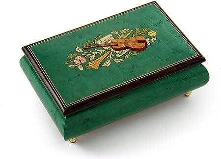 Brilliant Handcrafted 30 Nota de menta verde instrumento musical tema incrustación de madera caja de música, 43. I Want It That Way (Backstreet Boys): Amazon.es: Hogar