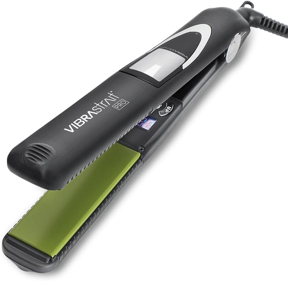 Vibrastrait Pro 1-inch Vibrating Flat Iron by Beautopia Hair
