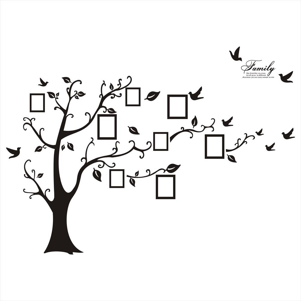 Amazon sweet memories photo frame wall decal family tree amazon sweet memories photo frame wall decal family tree photo gallery wall decal baby amipublicfo Choice Image