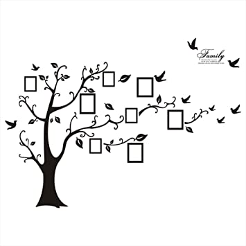 picture frame tree removable wall decor decal sticker black 1