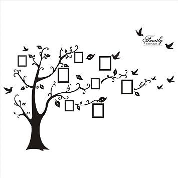 Huge Black Family Tree Photo Frame Wall Decal: Amazon.ca: Electronics