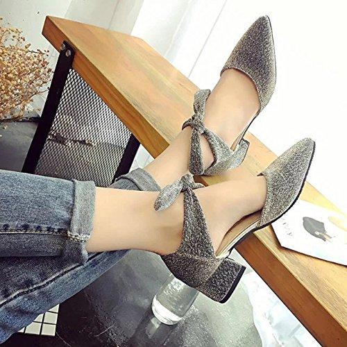 con yalanshop e Marea grezzo e scarpe sandali 35 argento signora In le q6t6Rw