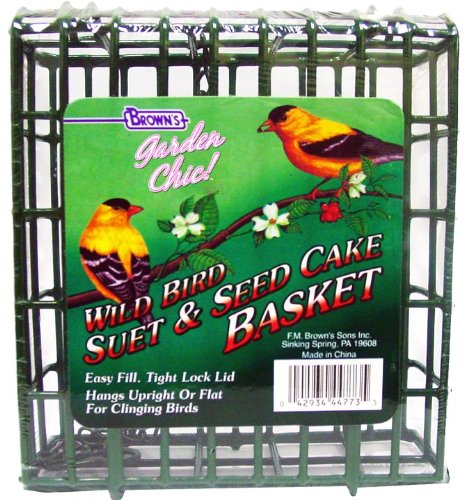 F.M. Brown's, Garden Chic Suet and Bread Cakes, Wire Feeding Suet Basket -