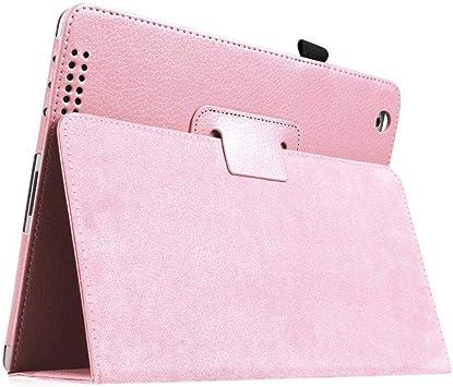HNKHKJ para iPad 2 3 4 Funda Folio Flip PU Funda de Cuero para Funda iPad 2 3 4 Funda de Soporte de lápiz A1395 A1396 A1430-for_iPad_2_3_4_Pink: Amazon.es: Electrónica