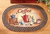 Coffee Themed Kitchen Rugs Braided Kitchen Coffee Accent Rug