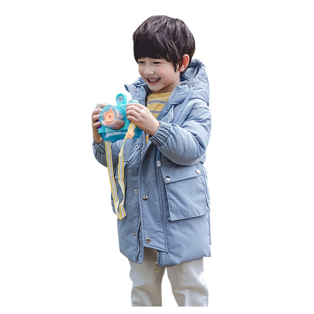 Lanhui Children's Hooded Cotton Padded Warm Coat, Winter Jacket Zip Thick Outdoor Snow Outwear by Lanhui