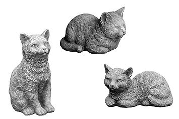 OFERTA ESPECIAL: Massive piedra figuras gatos - Familia habitación decoración jardín decoración de piedra fundido a las heladas.: Amazon.es: Jardín