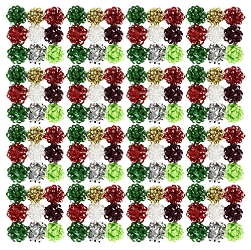 """Set of 150 High Quality Beautiful Gift Bows! Peel 'N Stick - 2"""" Small Beautiful Colors and Patterns Perfect for Adding a Unique Touch of Flair and Personalizing your Gifts! (150)"""