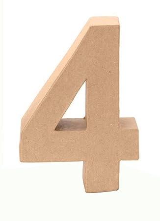 GLOREX cartón de número 4, Natural, 4: Amazon.es: Hogar