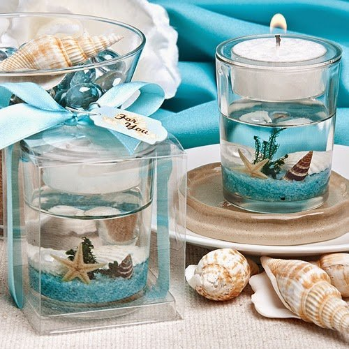 Stunning Beach-themed Candle Favor (20) (Gel Candle)