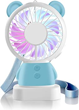 Mini ventilador de mano, Hebey Ventilador recargable portátil ...