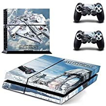 GMJIA PS4 Designer Skin for Sony PlayStation 4 Console System plus Two(2) Decals for PS4 Dualshock Controller - Star wars Battlefront