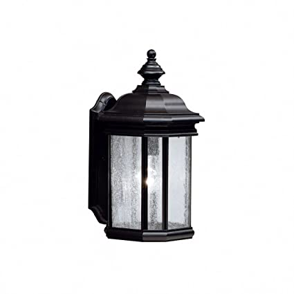 Kichler 9029bk kirkwood outdoor wall 1 light black
