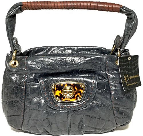 B. Makowsky Black Victoria Hobo BM14010, used for sale  Delivered anywhere in USA