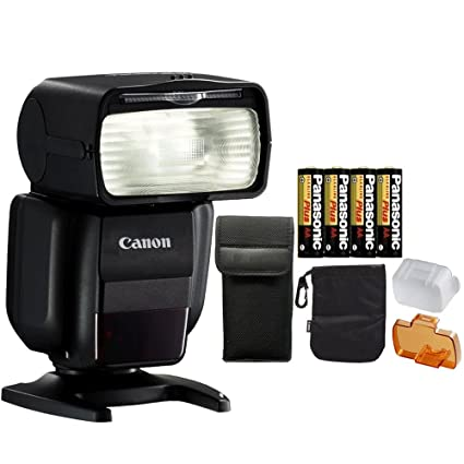 Amazon com : Canon Speedlite 430EX III Flash (Black) with 4