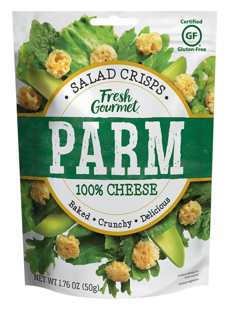 Fresh Gourmet Cheese Crisps, Asiago, Great for Snacking and Salad Topper
