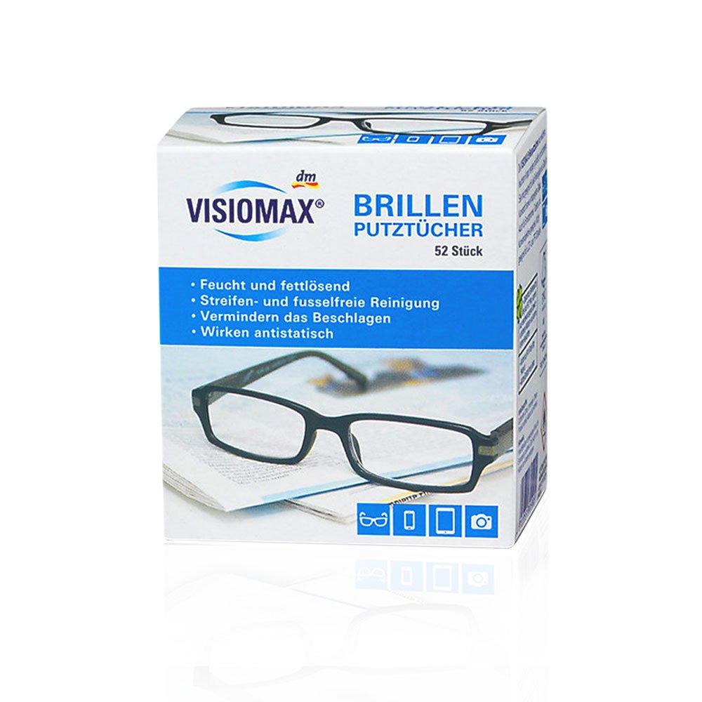 Toallitas limpiadoras para gafas, húmedas y desengrasantes para una limpieza sin rayas, 52 unidades, para todas las gafas con lentes de cristal y plástico, ...