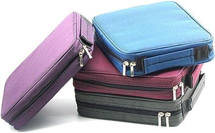 Laconile Oxford - Estuche para lápices (120 compartimentos, con asa y cremallera), color azul 10.2 * 8.7 * 2.4Inch: Amazon.es: Oficina y papelería