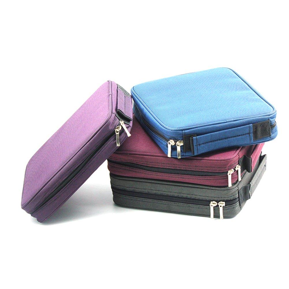 laconile groß Kapazität Oxford 120Slots Bleistift Halter Bleistift Tasche Bleistift Tasche Färben Bleistifte Organizer Storage mit Tragegriff und Reißverschluss 10.2*8.7*2.4Inch violett