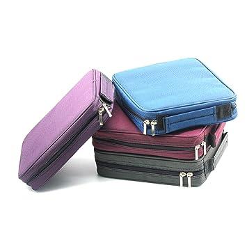 Laconile Oxford - Estuche para lápices (120 compartimentos, con asa y cremallera), color azul 10.2 * 8.7 * 2.4Inch