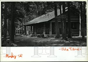 Historic Images - 1989 Press Photo Museum and Visitor Center Luby Bay Cabin on Priest Lake