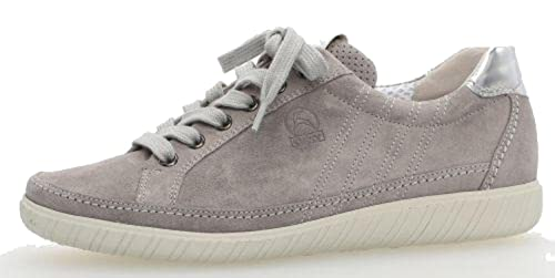 Gabor Amulet Wide Fit Sneaker 3 Grey Suede/Argento