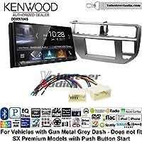 Volunteer Audio Kenwood DDX9704S Double Din Radio Install Kit with Apple Carplay Android Auto Fits 2012-2014 Kia Rio (Gun Metal Grey)