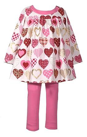 954cc4fc7 Amazon.com  Bonnie Jean Baby Girls Valentine s Day Heart Legging ...