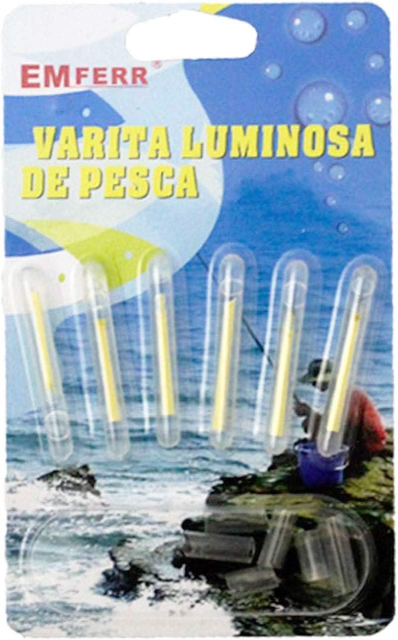 Acan Pack de 6 varitas Luminosas de Pesca: Amazon.es: Hogar