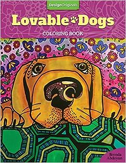 amazoncom lovable dogs coloring book 9781497201675 brenda abdoyan books