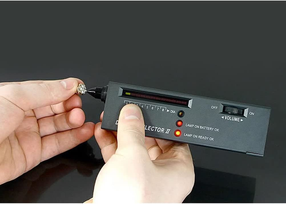 BESTOMZ Hohe Genauigkeit Schmuck Diamond Selector II Tester mit LED-Anzeige
