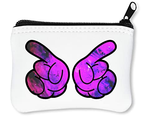 Mickey Mouse Galaxy Cosmic Cartoon Fingers Billetera con ...