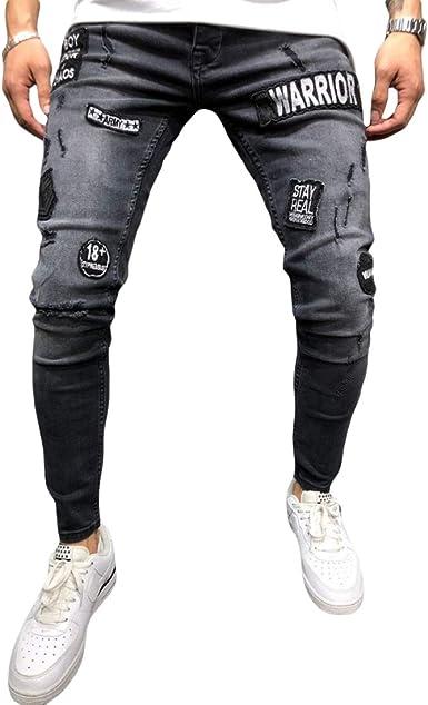Yefree Pantalones Vaqueros Delgados De Los Hombres Altos Hombre Elastico Adolescente Pies Pequenos Pantalones Pantalones De Mezclilla Amazon Es Ropa Y Accesorios