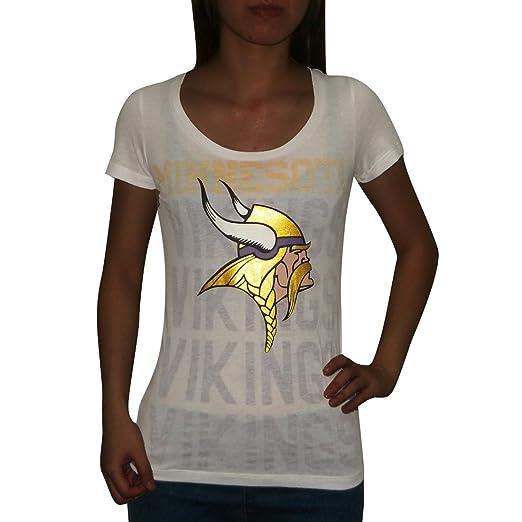 NFL Minnesota Vikings Womens Pink Victoria s Secret T Shirt Large White 5e14ff1ad