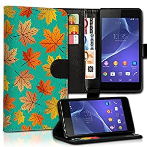 Wallet Wicostar–Funda Case Funda Carcasa diseño Funda para Huawei P8Lite–Diseño Flip mvd14