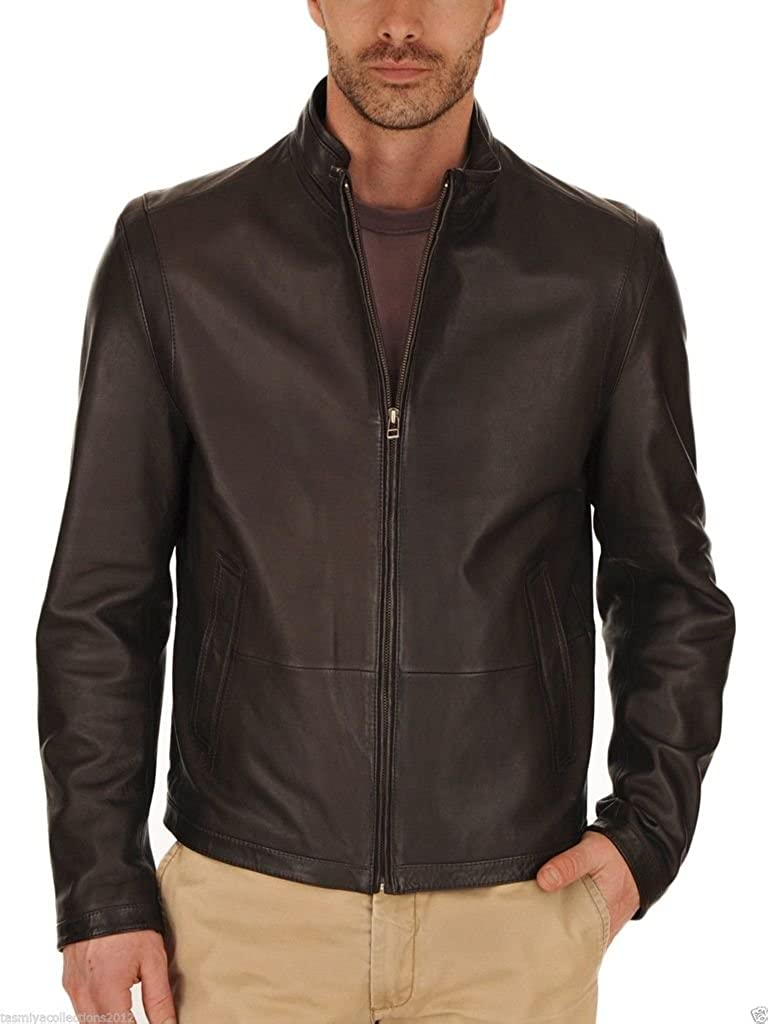 Mens Leather Motorcycle Slim Fit Jackets LF041