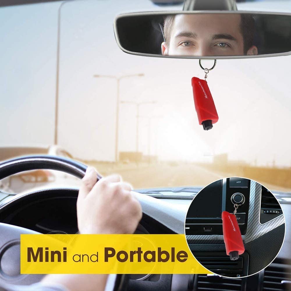 Car Safety Rescue Tool. Window Breaker Seat Belt Cutter Portable Glass Breaker Keychain for Land /& Underwater Emergency Chizea Car Escape Tool