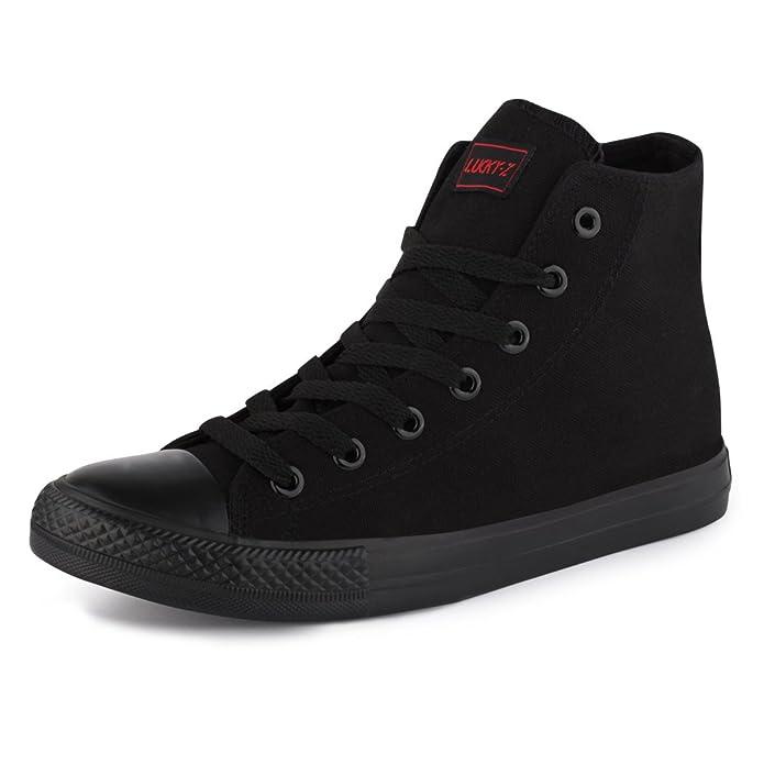 best-boots, Sneaker uomo, Negro - High Top ALLBlack, 36