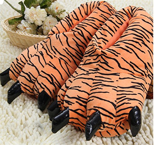 tigre supermarket Dinosaur Chaussons Cotton Claws Slippers pour femme The panda zfwaf
