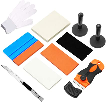 CARTINTS 5 in 1 Vinyl Wrap Micro Squeegee Tool Kit Vinyl Application Tool Kit for Car Wrapping and Window Tint Installing