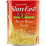Slim-Fast Blissful Banana Flavour Milkshake Powder - 12 Servings (438g)