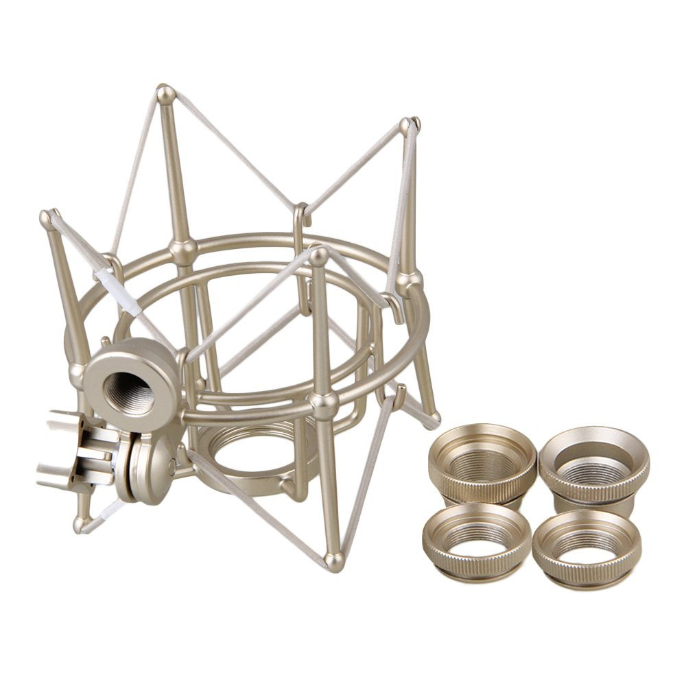 lovermusic Metal Cylinder Spider Shock Mount Stand for Newman U87 Microphone Silver by Lovermusic