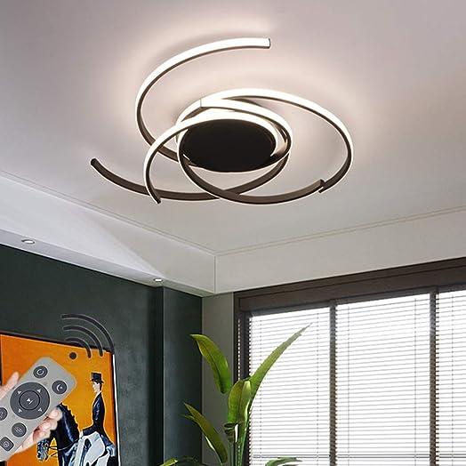 JIAODIE LED Ceiling Light Dimmable Living Room Kitchen Flush Hanging Lamp Modern Spiral Flower Shape Ceiling Lamp Fixture,Bedroom Ceiling Chandelier Lighting