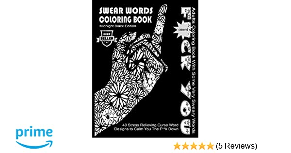 Amazon 5 Swear Word Coloring Book Midnight Black Edition