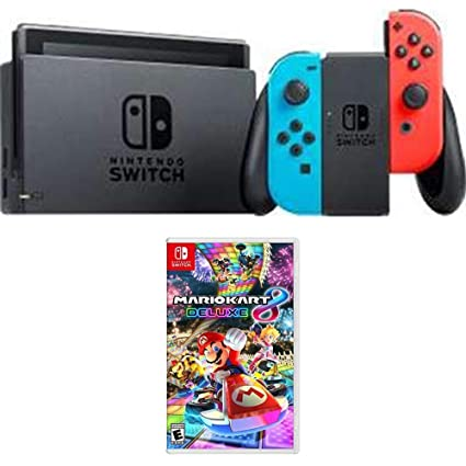 Amazon Com Nintendo Switch 32 Gb Console With Neon Blue And