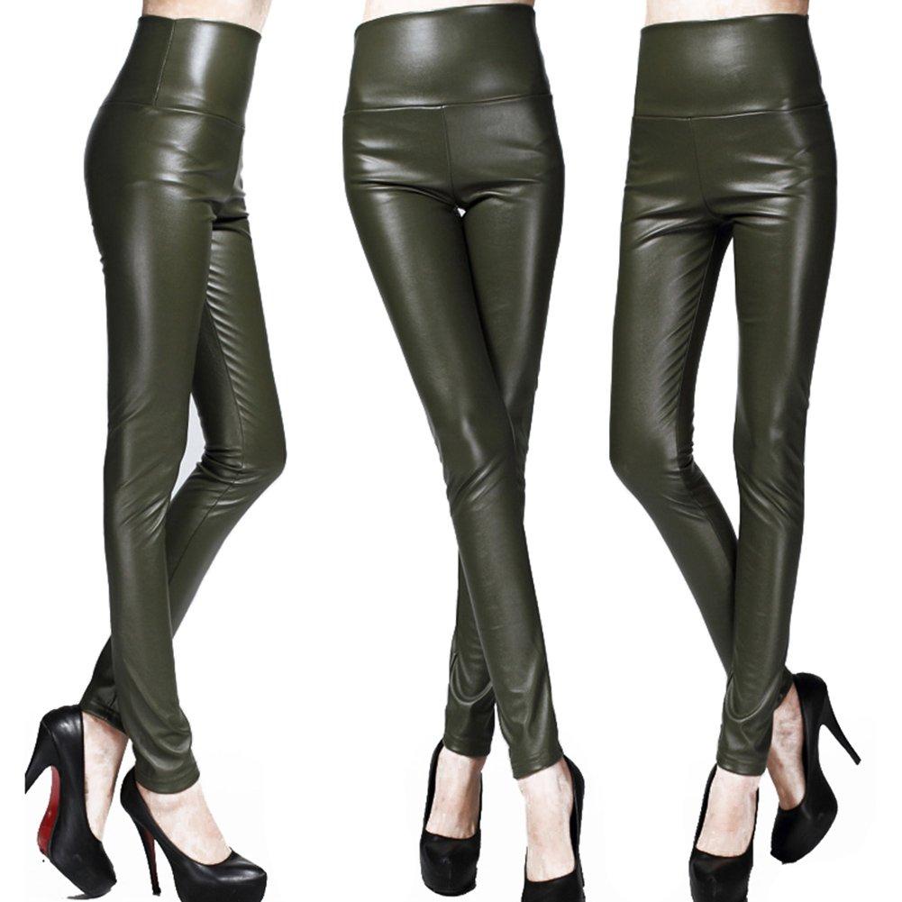Juleya Mujeres Flacas del lš¢piz de Las Polainas de Cuero Delgado Faux Pantalones Pantalones Mujer Gruesa Lana: Amazon.es: Ropa y accesorios