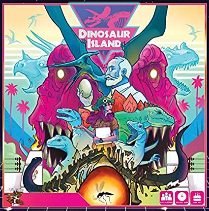 Amazon.com: Board Games Pandasaurus Games Dinosaur Island ...