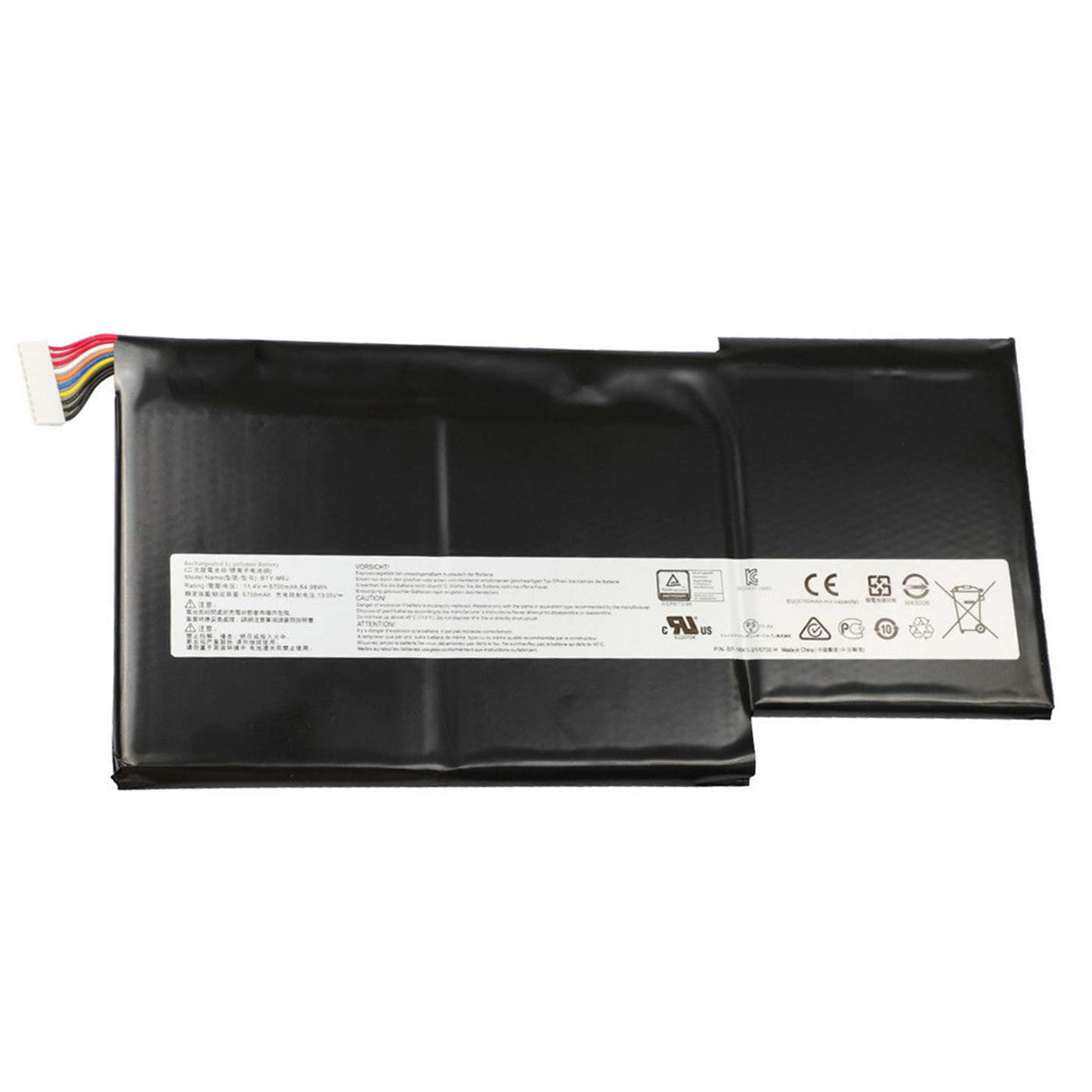 Bateria BTY-M6J 11.4V 64.98Wh 5700mAh MSI GS63 GS63VR GS73 G